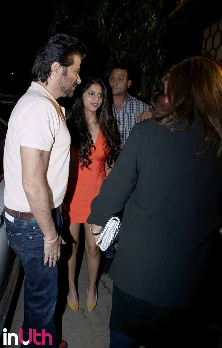 Suhana Khan with Anil Kapoor at Arth launch event