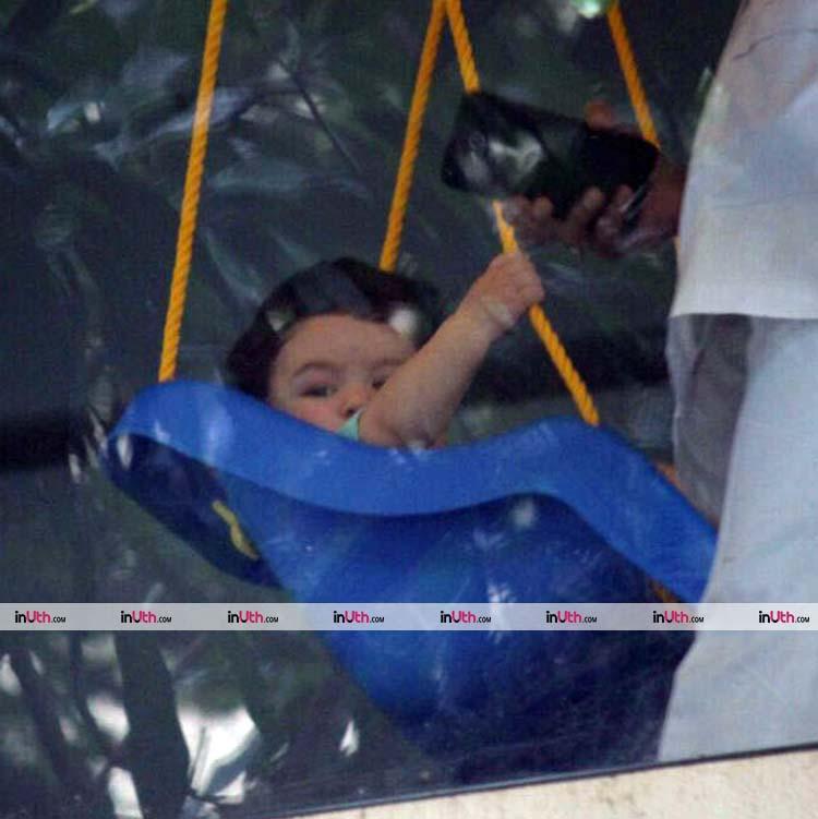 Taimur Ali Khan is enjoying a swing in his balcony