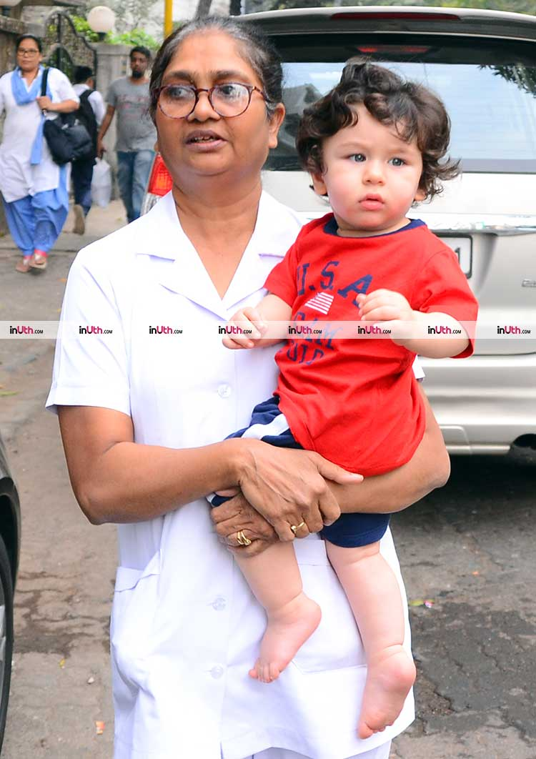 Taimur Ali Khan looking cute as button during his recent outing