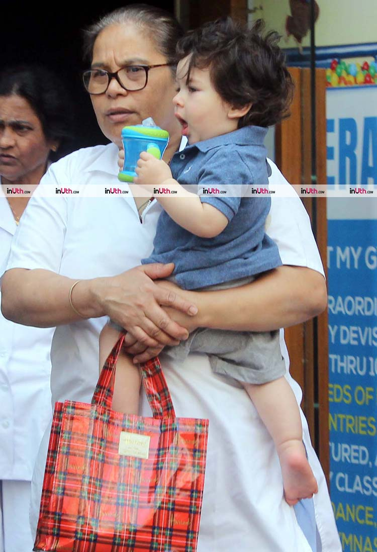 Taimur Ali Khan snapped outside a gym for babies in Mumbai
