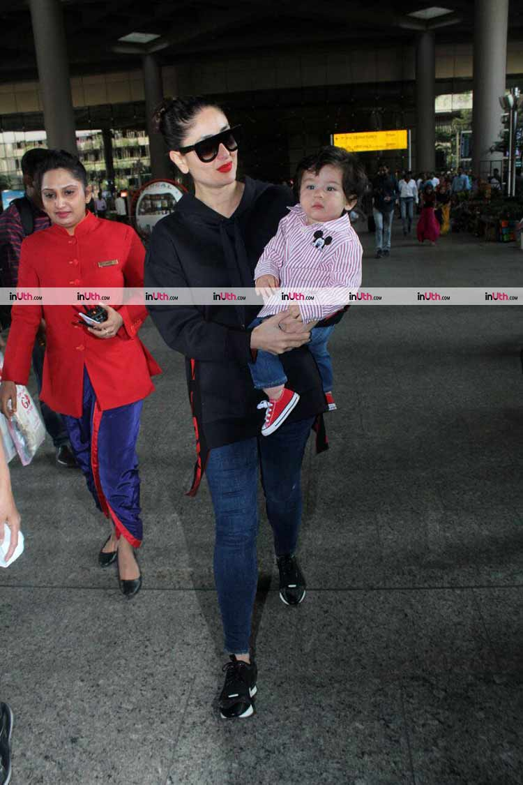 Taimur and Kareena Kapoor return from their Gstaad vacation