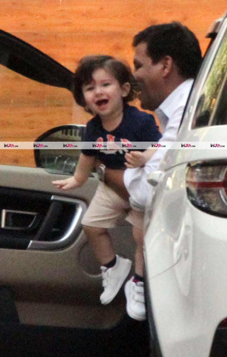 Taimur is excited about accompanying Kareena Kapoor to Amrita Arora's house