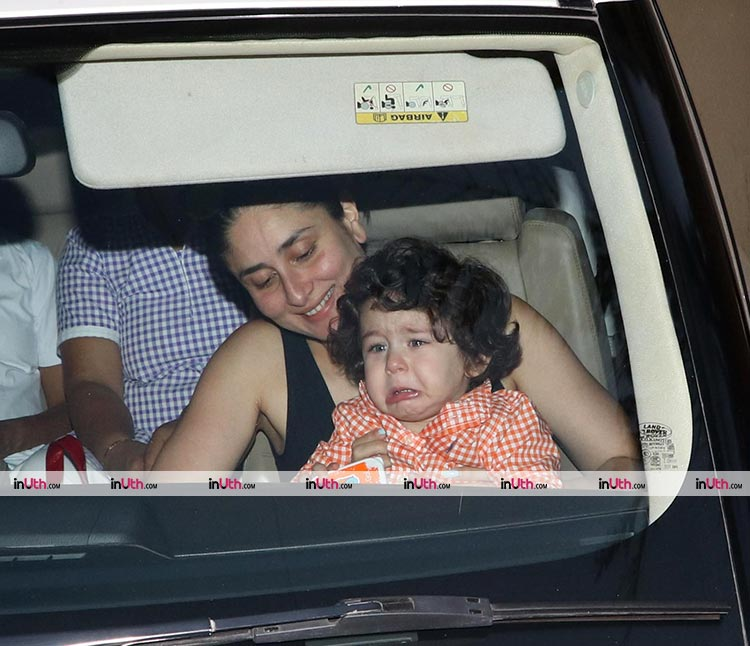 Taimur is not happy about leaving home