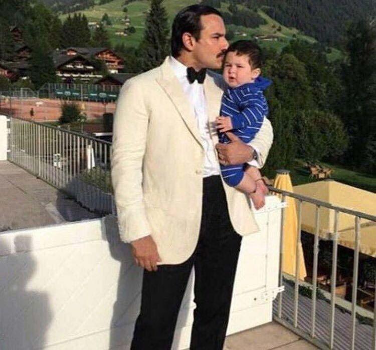 New picture! Taimur Ali Khan holidaying with Saif and Kareena