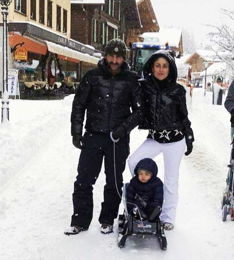 Taimur is vacationing with his parents in Gstaad