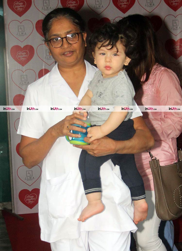 Taimur snapped after his weekly gym sessions on February 13