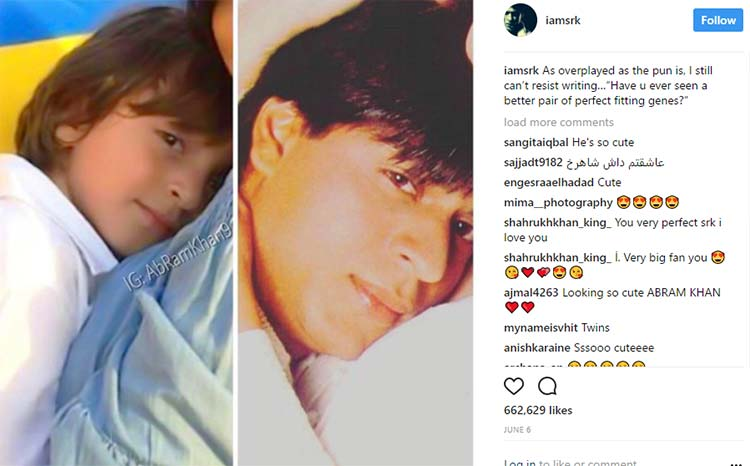 When Shah Rukh Khan became super excited about his resemblance to AbRam