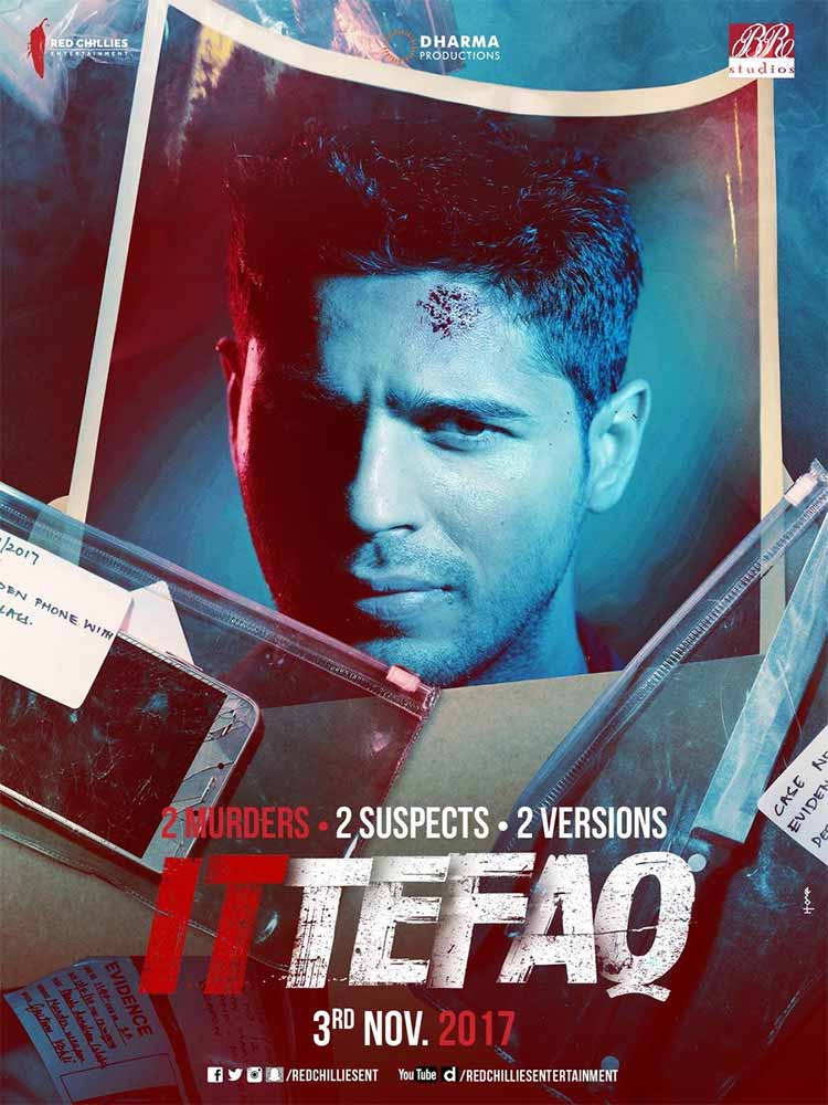 Sidharth Malhotra looks dazed in this new poster of Ittefaq