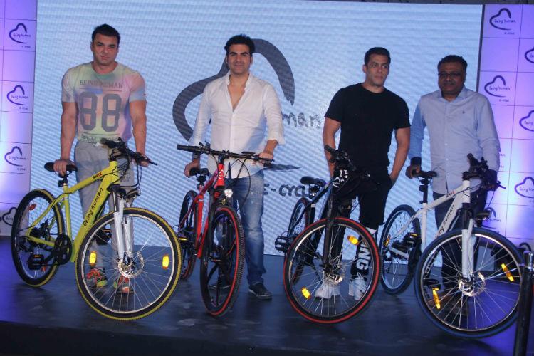 Salman Khan with Arbaaz and Sohail Khan, Mumbai