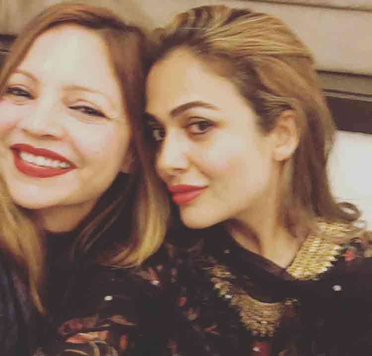Amrita Arora with Deanne Pandey at Salman Khan's Eid party