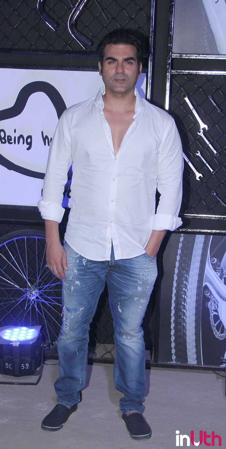 Arbaaz Khan at Being Human bike launch