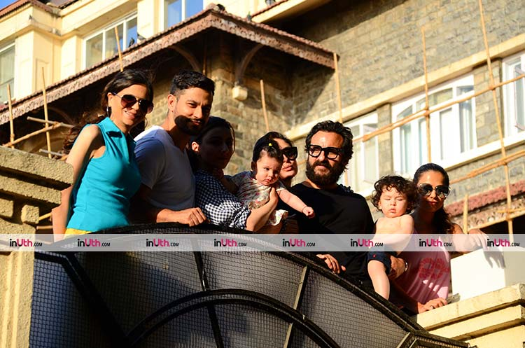 Inaaya and Taimur spent a fun Monday with family