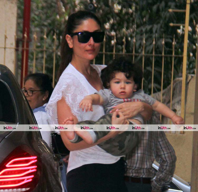 Kareena Kapoor Khan snapped with her little baby Taimur Ali Khan