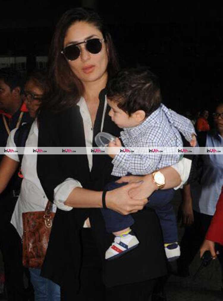 Kareena Kapoor gets cute munchkin Taimur back home