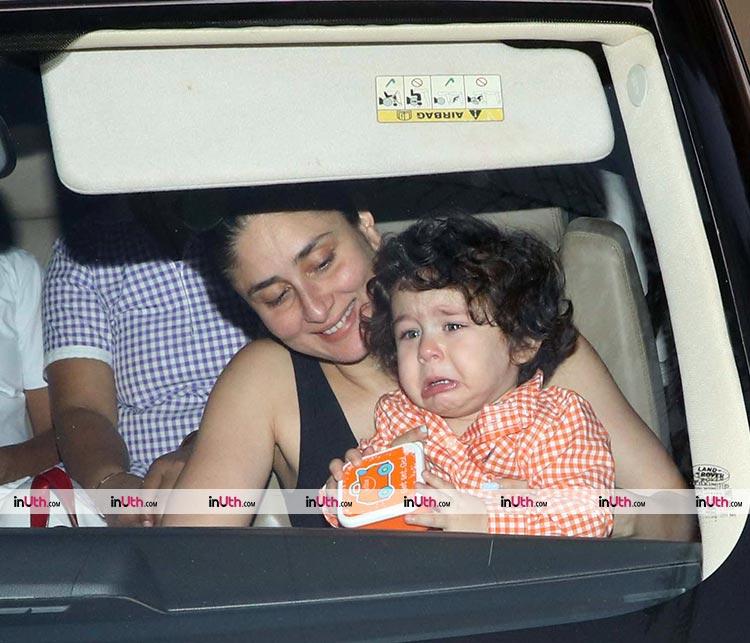 Kareena Kapoor tries to calm a crying Taimur down