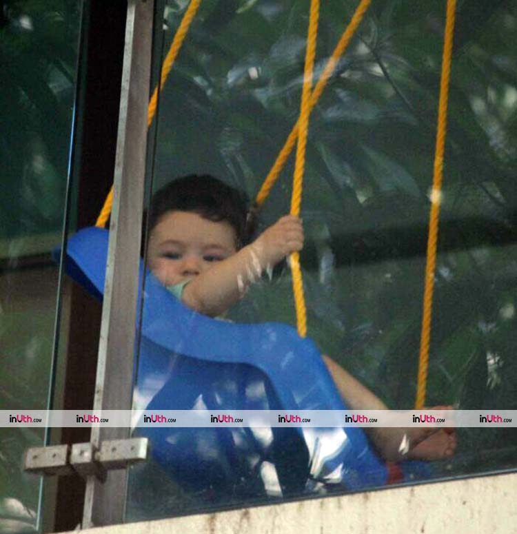 Kareena Kapoor's son Taimur doing what he is best at