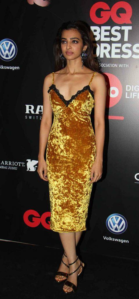 Radhika Apte at GQ Best Dressed Men Awards 2017