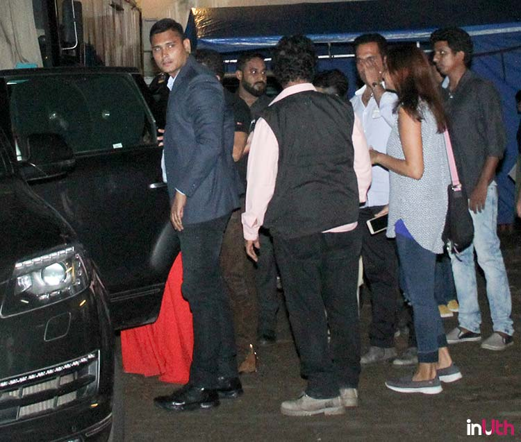 Salman Khan hugs Katrina Kaif as he drops her to her car