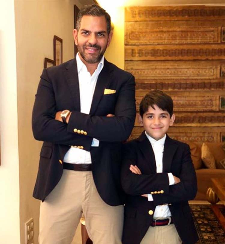 Sunjay Kapur with son Kiaan