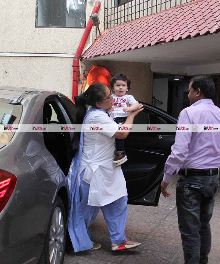 Taimur Ali Khan being a total doll in Bandra