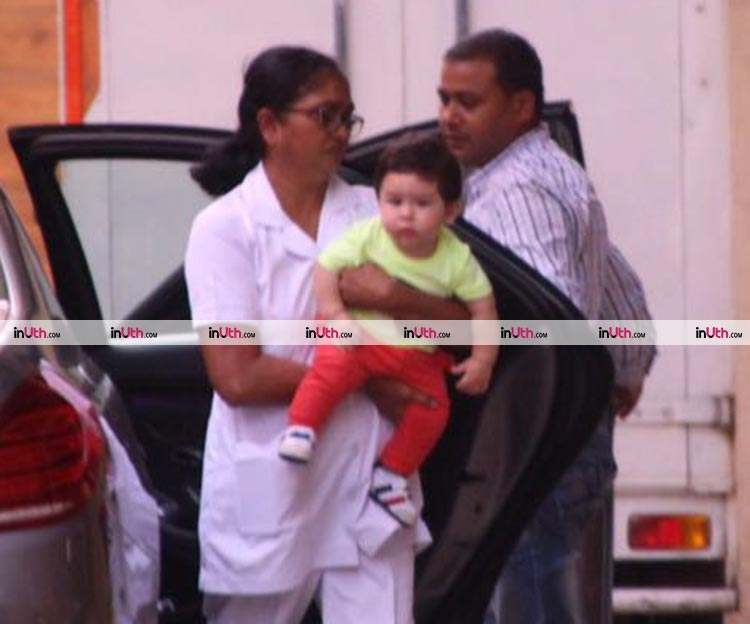 Taimur Ali Khan goes to meet mommy Kareena's best friend