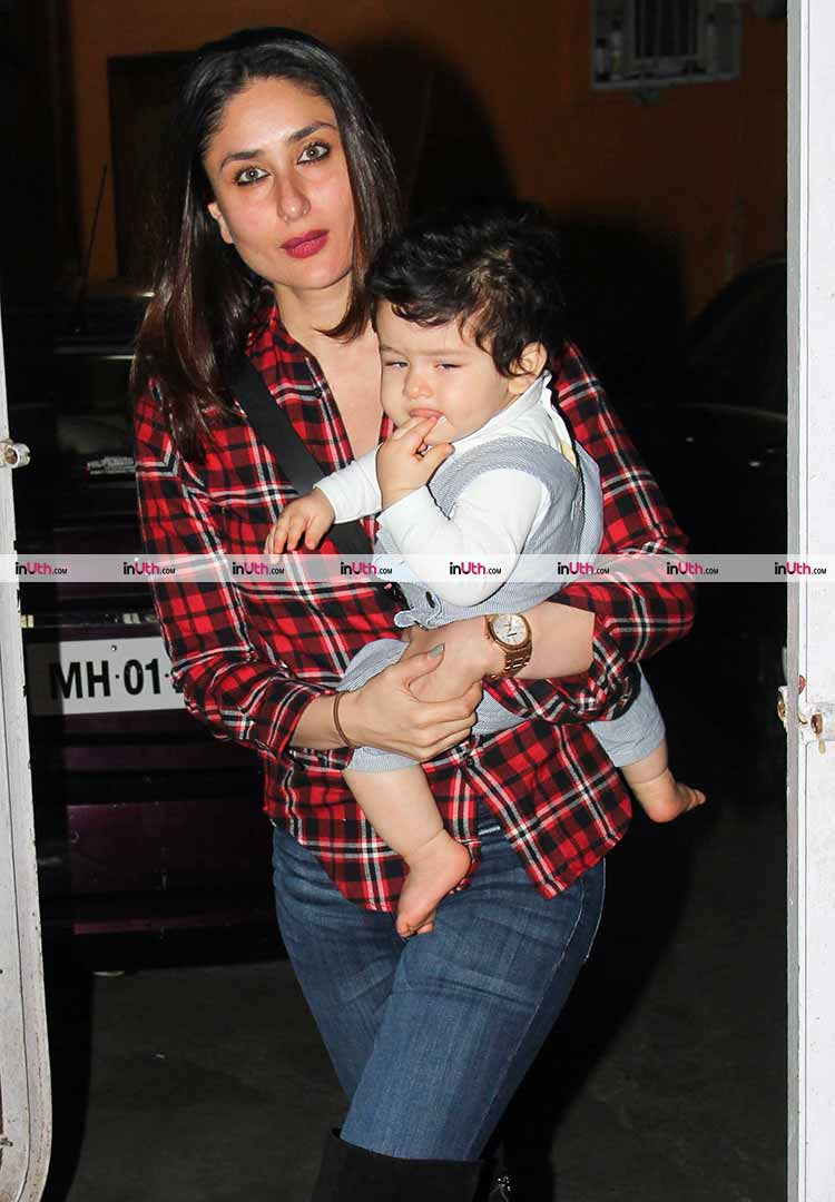 Taimur Ali Khan is oblivious of the paparazzi