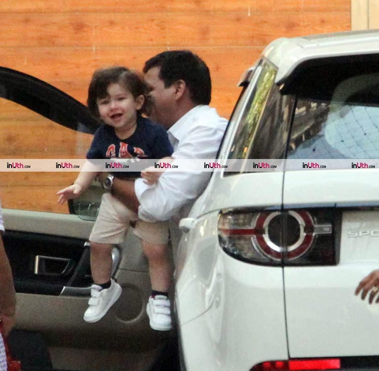 Taimur Ali Khan spotted outside Amrita Arora's house on March 13, 2018
