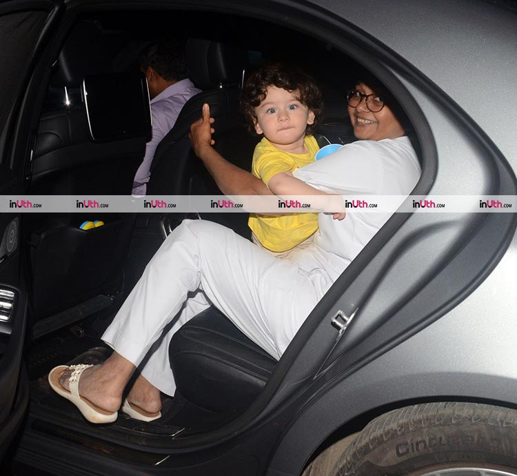 Taimur just can't stop posing for the cameras