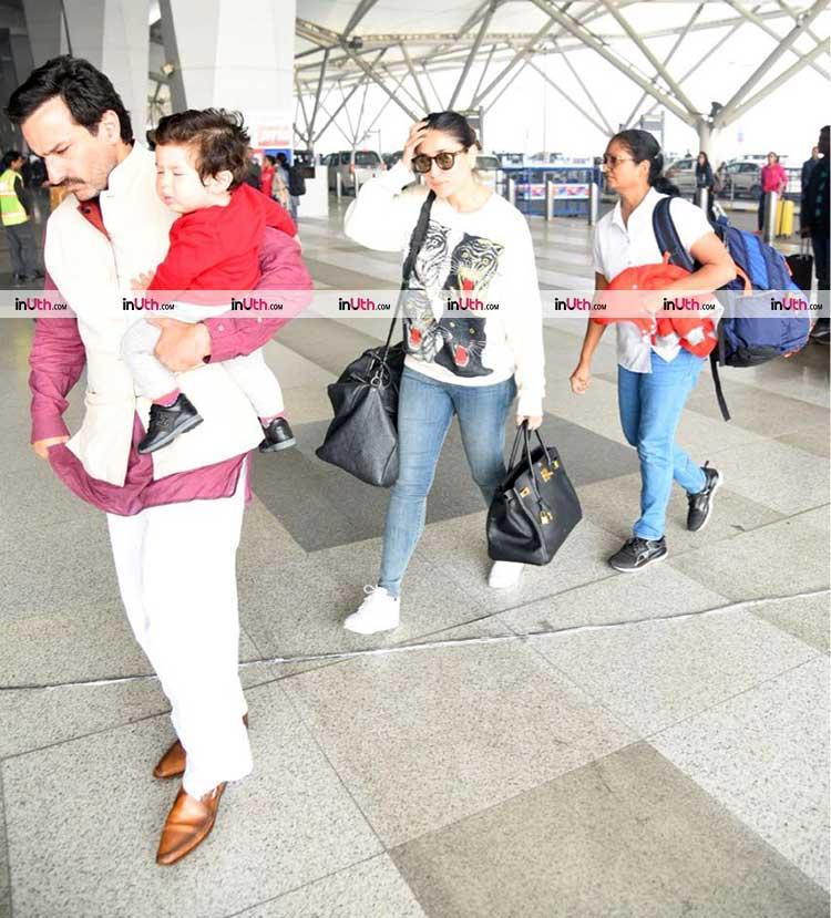 Taimur returns to Mumbai with Saif Ali Khan and Kareena Kapoor