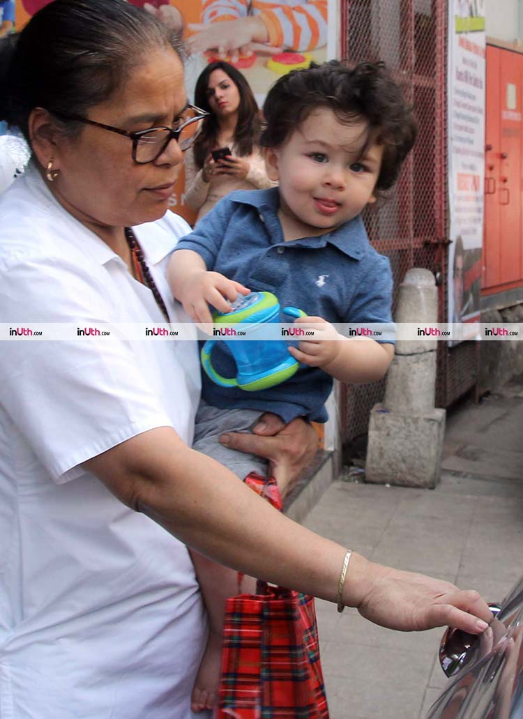 Taimur snapped outside a play school on January 28, 2018