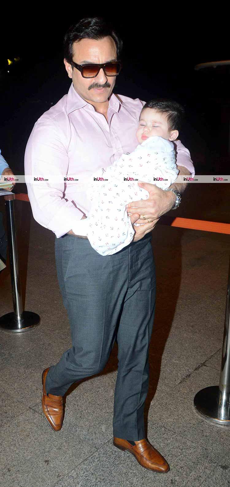 Taimur with his dad Saif Ali Khan