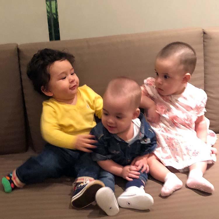Taimur's playtime with Karan Johar's kids