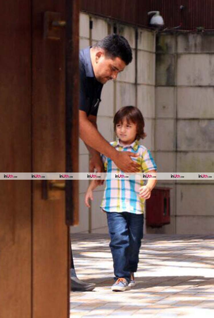AbRam spotted in Mannat