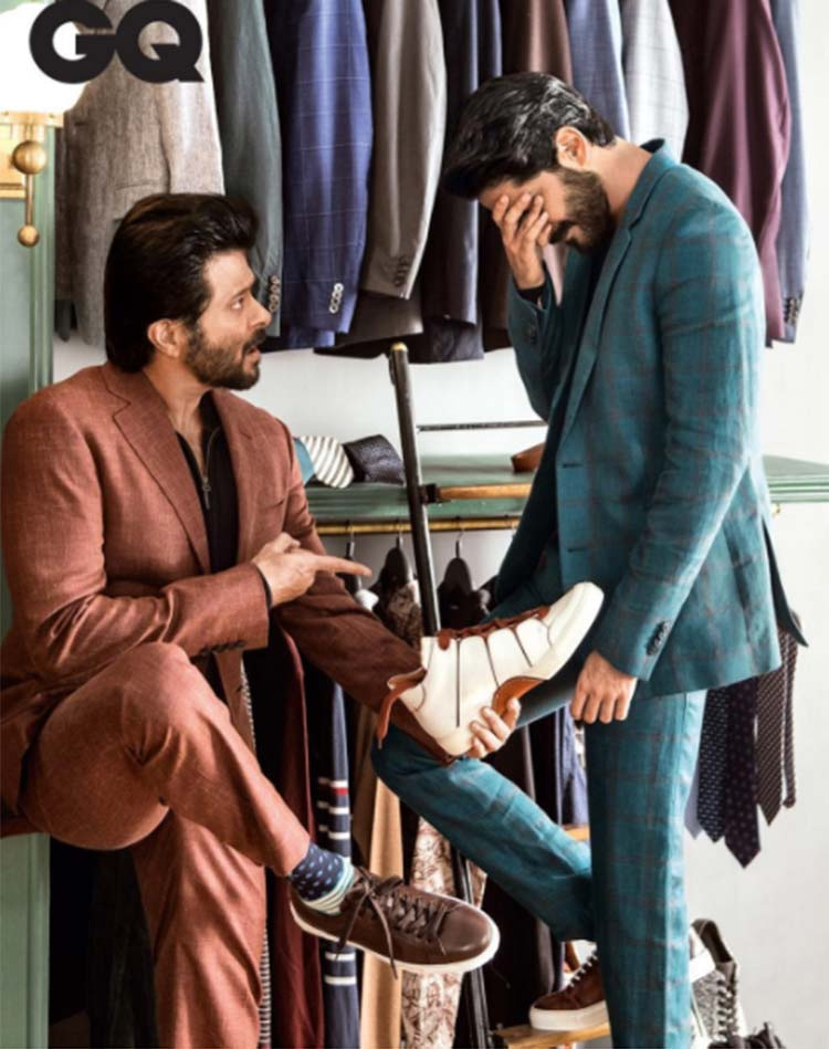 Anil Kapoor with Harshvardhan in GQ Magazine
