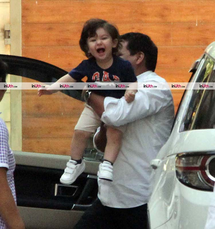 Cute Taimur jumping with happiness