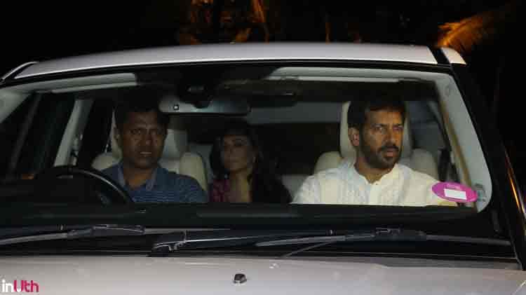 Kabir Khan with wife Mini Mathur at Salman Khan's Eid party