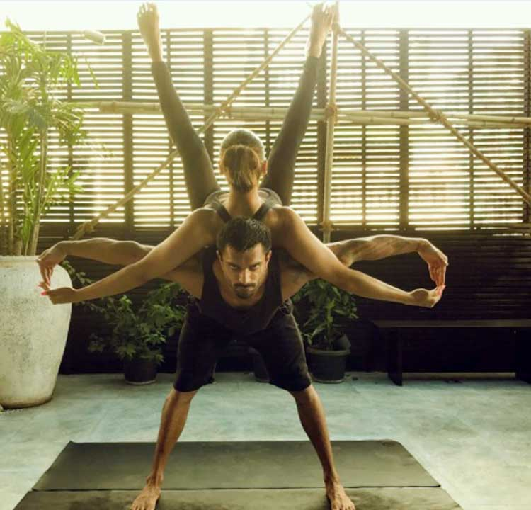 Karan Singh Grover and Bipasha Basu turn the power couple for Yoga Day