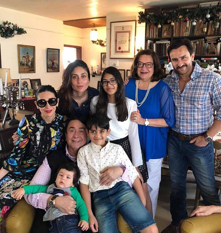 Little Taimur chilling with the Kapoors at their Christmas party