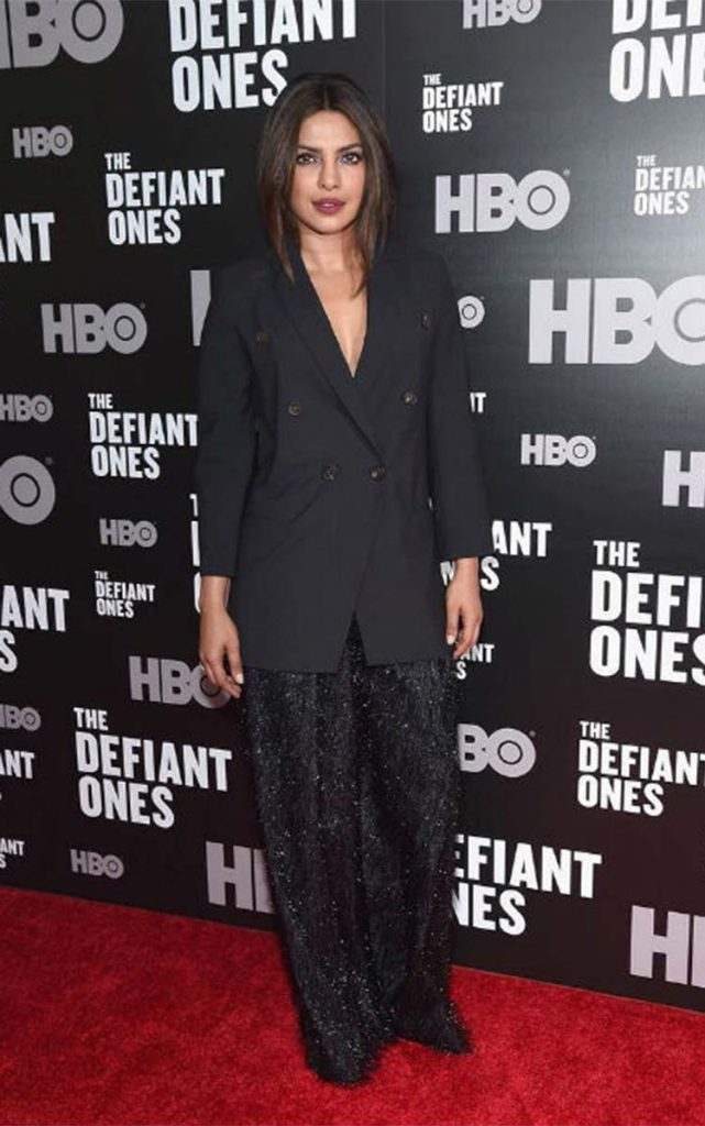 Priyanka Chopra in New York at The Defiant Ones premiere
