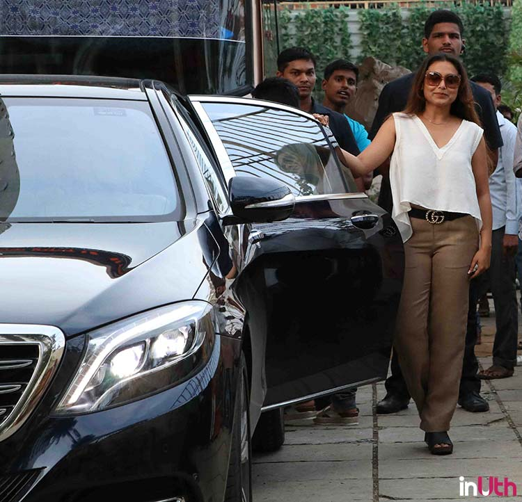 Rani Mukerjee shooting for Hichki