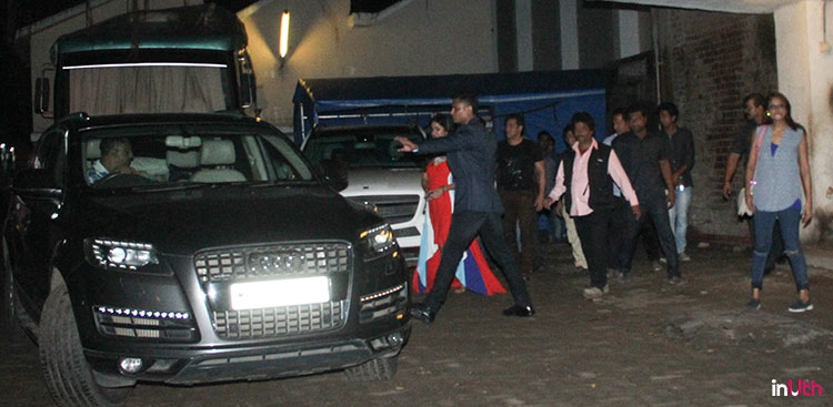 Salman Khan and Katrina Kaif at Mehboob studios