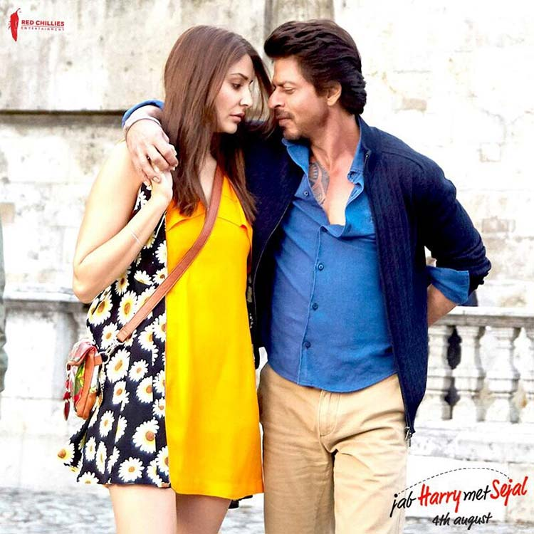 Shah Rukh Khan and Anushka look beautiful in this Jab Harry Met Sejal poster