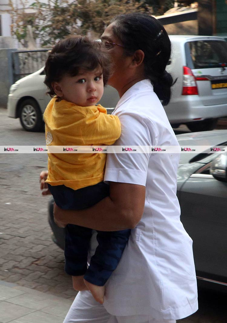 Taimur Ali Khan spotted outside his gym in Bandra