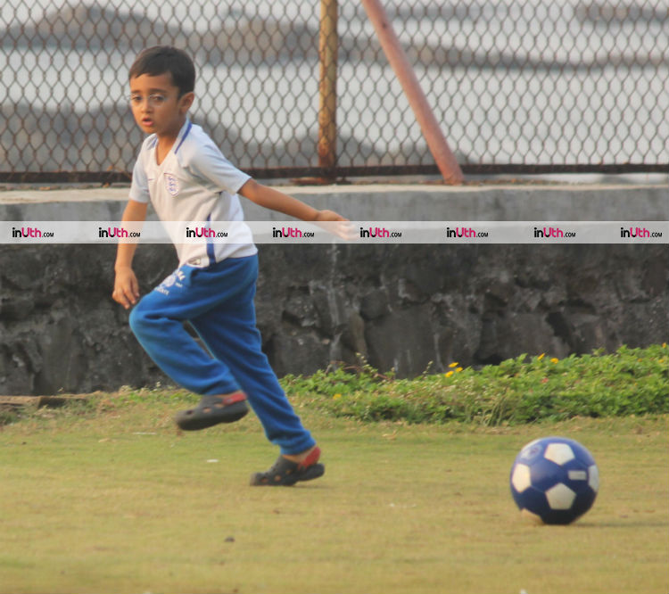 Young Azad polishing his football skills