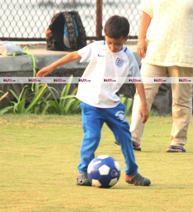 Aamir Khan's son Azad snapped in the park on Wednesday, January 10, 2018