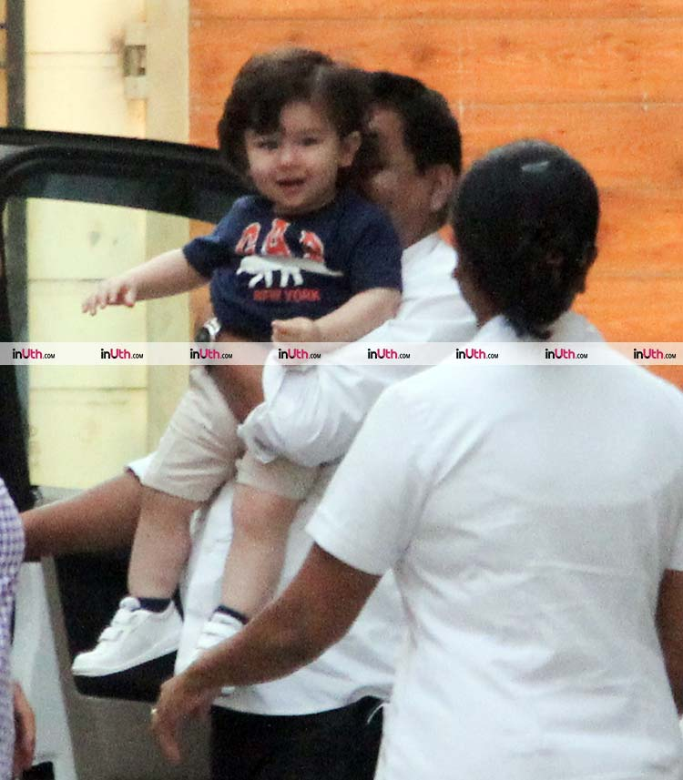 Cute Taimur poses for the cameras