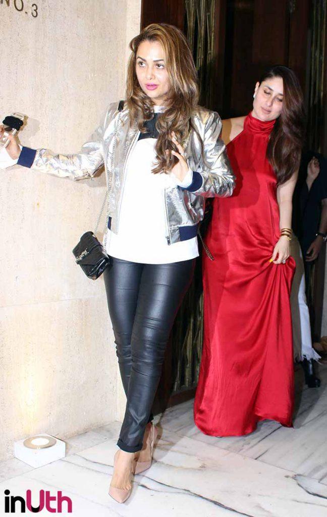 Kareena Kapoor with Amrita Arora at Manish Malhotra's party