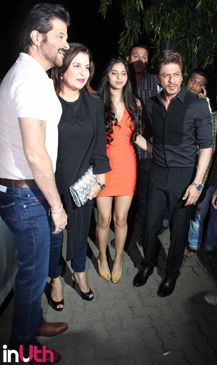 Suhana Khan with Shah Rukh Khan, Anil Kapoor, Farha Ali Khan