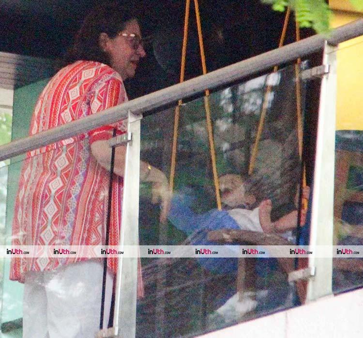 Taimur Ali Khan playing with his grandmother
