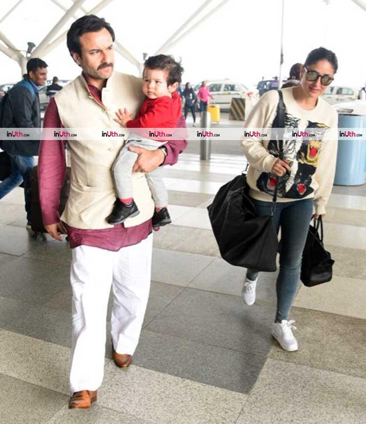 Taimur Ali Khan returns to Mumbai as Santa